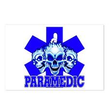 PARAMEDIC-3 SKULLS Postcards (Package of 8)