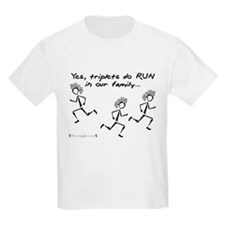 Triplets RUN in the Family Kids T-Shirt