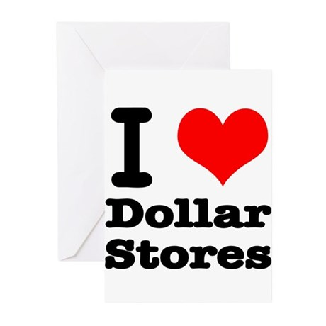 I Heart (Love) Dollar Stores Greeting Cards (Pk of