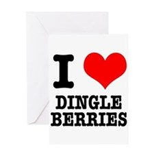 I Heart (Love) Dingleberries Greeting Card