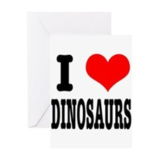 I Heart (Love) Dinosaurs Greeting Card