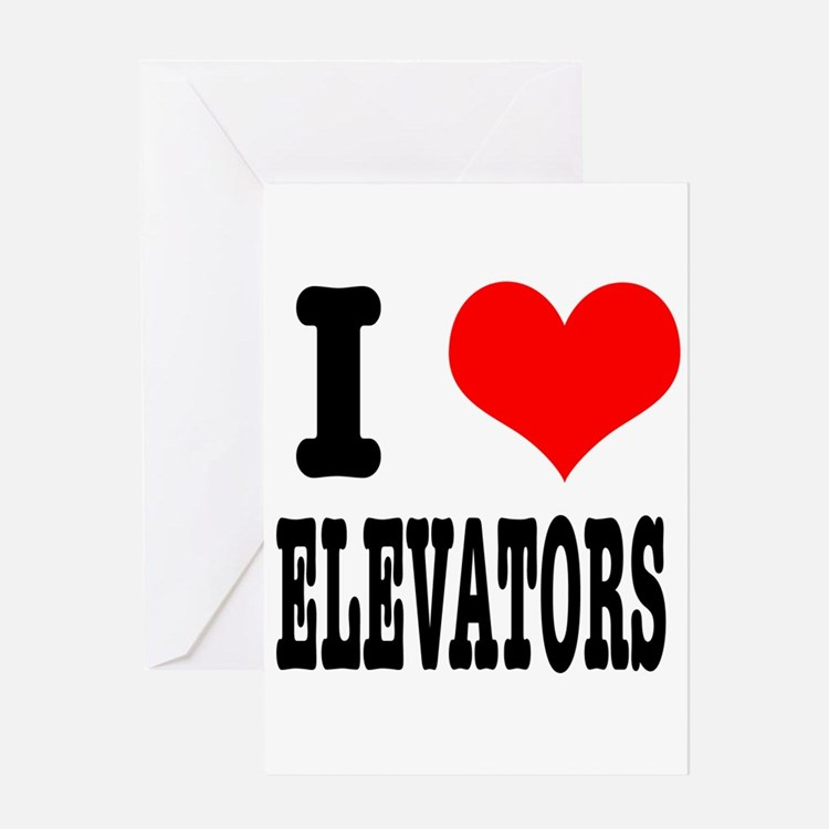 I Heart (Love) Elevators Greeting Card
