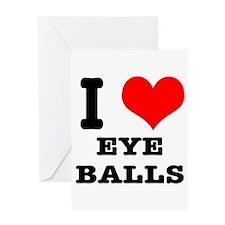 I Heart (Love) Eyeballs Greeting Card