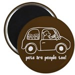 """Pets Are People Too 2.25"""" Magnet (100 pack)"""