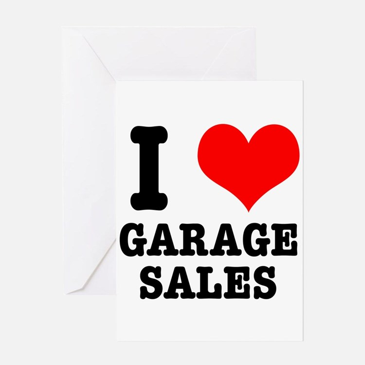 I Heart (Love) Garage Sales Greeting Card