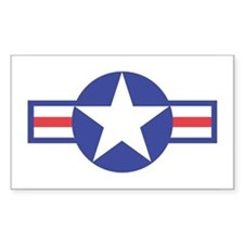 US USAF Aircraft Star Rectangle Decal