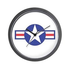 US USAF Aircraft Star Wall Clock