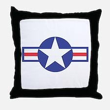 US USAF Aircraft Star Throw Pillow