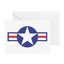US USAF Aircraft Star Greeting Cards (Pk of 10