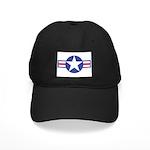 US USAF Aircraft Star Black Cap