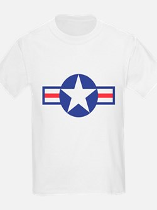 US USAF Aircraft Star (Front) Kids T-Shirt