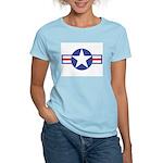 US USAF Aircraft Star (Front) Women's Pink T-Shirt