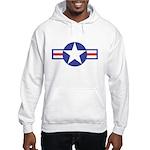 US USAF Aircraft Star (Front) Hooded Sweatshirt