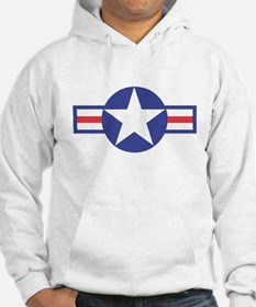 US USAF Aircraft Star (Front) Hoodie Sweatshirt