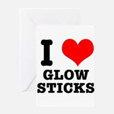 I Heart (Love) Glow Sticks Greeting Card