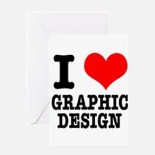 I Heart (Love) Graphic Design Greeting Card