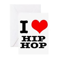 I Heart (Love) Hip Hop Greeting Card