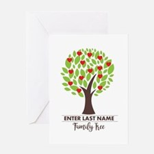 Personalized Last Name - Family Tree Greeting Card