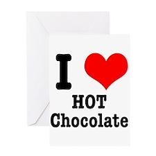 I Heart (Love) Hot Chocolate Greeting Card