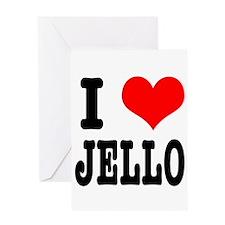 I Heart (Love) Jello Greeting Card