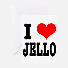 I Heart (Love) Jello Greeting Card