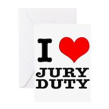 I Heart (Love) Jury Duty Greeting Card