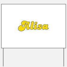 Retro Alisa (Gold) Yard Sign