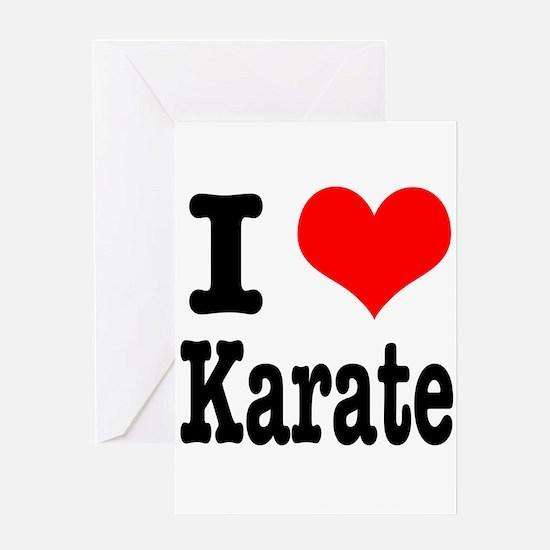 I Heart (Love) Karate Greeting Card