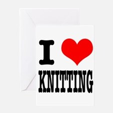 I Heart (Love) Knitting Greeting Card