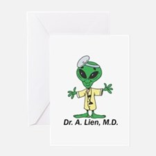 Doctor Alien Greeting Card