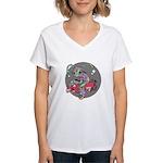 Alien on Hovercraft Women's V-Neck T-Shirt