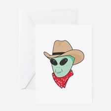 Cowboy Alien Greeting Card
