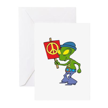 Hippie Alien Greeting Cards (Pk of 20)