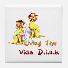 Vida Dink Tile Coaster