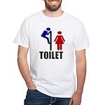 Toilet Peek White T-Shirt