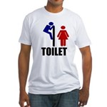 Toilet Peek Fitted T-Shirt
