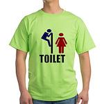 Toilet Peek Green T-Shirt