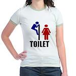 Toilet Peek Jr. Ringer T-Shirt
