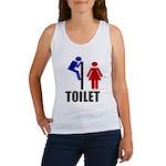 Toilet Peek Women's Tank Top