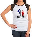 Toilet Peek Women's Cap Sleeve T-Shirt