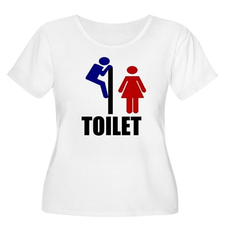 Toilet Peek Women's Plus Size Scoop Neck T-Shirt