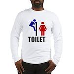 Toilet Peek Long Sleeve T-Shirt