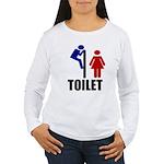 Toilet Peek Women's Long Sleeve T-Shirt
