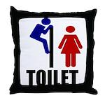 Toilet Peek Throw Pillow