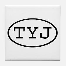 TYJ Oval Tile Coaster