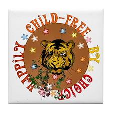 Happily Child-Free Tile Coaster