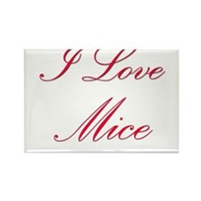 I Love Mice Rectangle Magnet