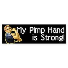 Rosie the Riveter's Pimp Hand Bumper Car Sticker