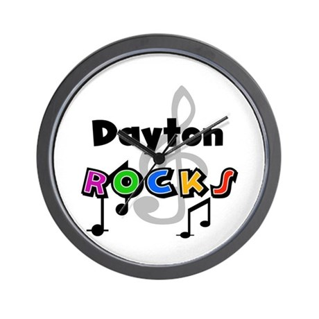 Dayton Rocks Wall Clock