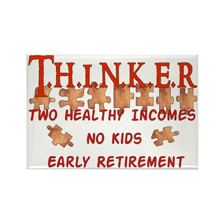 Child-Free Thinker Rectangle Magnet (10 pack)
